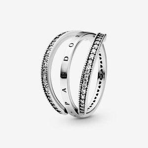 😋Pandora  Pandora Logo and Hearts Ring